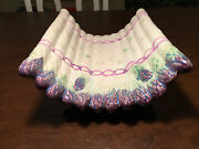 Antique Luneville Faience Majolica Pottery Asparagus Cradle Tray Bowl Plate