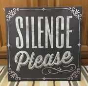 Silence Please Cinema Theatre Poster Ticket Drive In Look Man Cave Theater