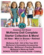 American Girl Mckenna Doll And Outfits_goty Starter Collection + More New In Box
