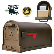 Large Steel Mailbox Post Mount Galvanized Mail Box Metal Safe Mailboxes Classic