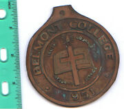 Belmont College 1951 Huge Medal Or Emblem What Is It  Need Help Or Input