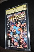 Action Comics 1 Cbcs Ss 9.6 Signed Artist Rags Morales Superman Cgc New 52