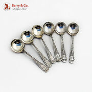 Sheraton Gumbo Chowder Soup Spoons Set Mauser Mfg Co Mark Sterling Silver