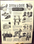 Roy Rogers 1940s Magazine Ad Cap Gun Holster Set Just 5.98 Boots Robes Hats