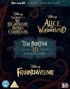 Tim Burton Movie Collection 3d Blu-ray Brand New 3 Movies Collection