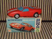 Marx Toys, Battery, Trickey Action Sports Car In Original Box/fully Working