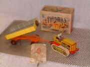 Arnold Very Rare, Fully Operational, Tin Clockwork Tractor And Trailer W/box And Key