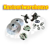 Vw Front 2.5 Dropped Lower Spindle Disc Brake Conversion Kit 4 X130 Volkswagen