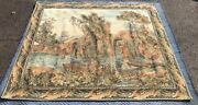 Antique French Loom Made Tapestry
