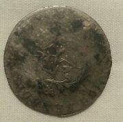 1739-p Dijon Us Colonial French Colonies Sou Marque R5 Vlack Colonies Coin