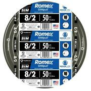 50 Ft. 8/2 Stranded Romex Simpull Cu Nm-b W/g Wire Copper Conductor Indoor Use