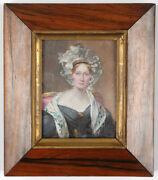 Francois Theodore Rochard 1798-1858 Portrait Of A Victorian Lady 1830s