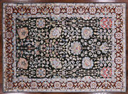 Wool And Silk Hand Knotted Area Rug 5' 7 X 7' 8 - P9443