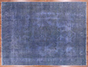 9' 6 X 12' 8 Hand Knotted Overdyed Wool Area Rug - P9408
