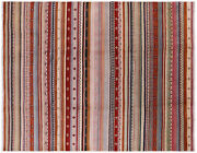 7and039 11 X 9and039 11 Hand Knotted Loribaft Gabbeh Wool Rug - P7388