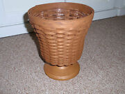 Longaberger Factory Store Exclusive Woven Vase Basket, In Rich Brown, New