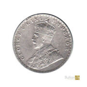 1913 King George V India One Rupee Original Silver Coin