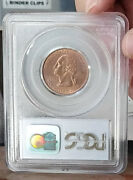 1999 D Quarter Copper Washed Pcgs Ms62 Awesome Piece Eye Appealng Red Rd