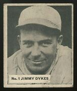 1936 V355 World Wide Gum Canadian Goudey 1 Jimmy Dykes Best You'll See On Ebay