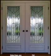 I Pr - Stain Glass Pocket Or French Interior Doors 36 X 84