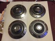 Nos 1963 Ford Falcon 9 1/2 Dog Dish Poverty Hubcaps 13 Wheel Turbine Style 62