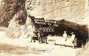 Rppc-view Of Spout Spring-indiana-barbecue-coca Cola Sign-shoals-martin County