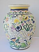 Poole Pottery Persian Deer Hand Painted By Donna Ridout Large Vase 12 Tall