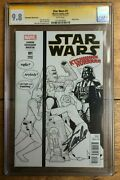 Star Wars 1 J T Christopher Sketch Bandw Party Variant Cgc Ss 9.8 Signed Stan Lee