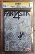 Fantastic Four 1 1300 Alex Ross Variant Cgc Ss 9.8 Signed Stan Lee 2014