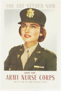 Ruzzie Green Poster You Are Needed Now - Join The Army Nurse Corps 1943 Ww2