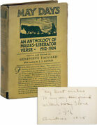 Genevieve Taggard-may Days Anthology 1925-association Copy, Signed 8x