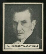 1936 World Wide Gum Canadian Goudey 129 Rabbit Maranville Really Well Centered