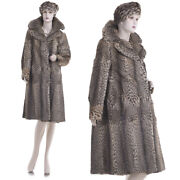 Mint Ultra Lux Sexy Sensuous Natural Spotted Genuine Fur Coat W/hat