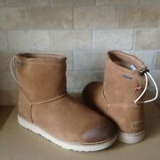 Ugg Classic Toggle Waterproof Chestnut Suede Sheepskin Ankle Boots Size 7 Mens