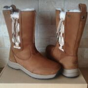Ugg Suvi Waterproof Chestnut Leather Fur Winter Snow Boots Size Us 7 Womens