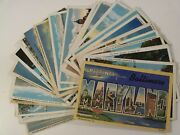 Maryland Md. 27 Linen Lot Pre-wwii / Wwii Picturesque Views 1 Large Letter 055