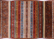 5and039 9 X 7and039 9 Super Kazak Hand Knotted Khorjin Area Rug - P9860