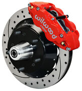 Wilwood Disc Brake Kitfront82-92 Gm F-body13 Drilled Rotors6 Piston Red