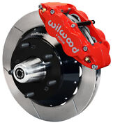 Wilwood Disc Brake Kit,front,82-92 Gm F-body,14 Rotors,6 Piston Red Calipers