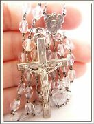 Antique Art Nouveau 1930's Crystal And Alpacca Rosary Visit My Store