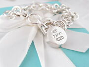 And Co Silver 1837 Padlock Round Charm Bracelet