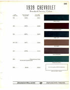 1939 Chevrolet Master 85 Master Deluxe Six 39 Paint Chips Sherwin Williams 6pc