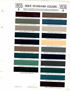 1935 Buick 40 50 60 90 Series 35 1936 Buick Eight Paint Chips Sherwin Williams