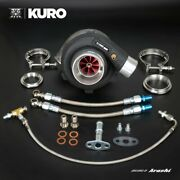 Kuro Gtx2860r Gen2 Billet Ball Bearing Turbo W/ 0.72 A/r V-band Inlet And Outlet