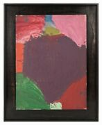 1951 Charless Hahn Abstract Oil Painting On Canvas Board Mid Century Modern