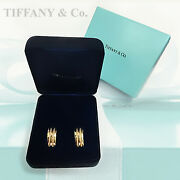 And Co. Atlas 1995 18k Yellow Gold Earrings Authentic Genuine Original