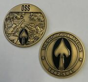 Cia Glorious Amateurs Office Of Strategic Services Oss Cia Wwii Spear Coin 1.75