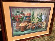 Home Sweet Interiors Primitive Antique Wagon Stacking Boxes Watering Can Picture