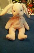 Rare Retired Ty Beanie Baby Hoppity Pink Bunny W/ Tag Errors Vintage 1996