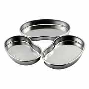 Dental Stainless Steel Surgical Kidney Tray Bowl Dish Medical Instrument S/m/l